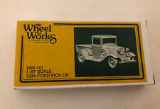 Wheel Works 1934 FORD PICK-UP TRUCK  Kit #WW-101 ~ Cast Metal ~ 1:87 HO Scale
