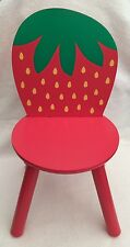 NEW Children's Chair Kid's Strawberry Style Wooden Seat / Stol ~Seat Height 27cm