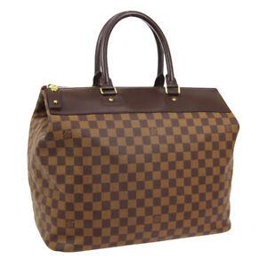 LOUIS VUITTON GREENWICH PM TRAVEL HAND BAG AR0014 DAMIER EBENE N41165 01181
