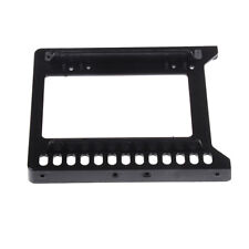 "Adapter 2.5"" to 3.5"" hard drive plastic bracket hdd holder mounting ssd black HC"