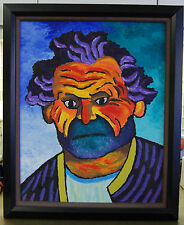 "Original Oil Painting: ""GEORGE"" on Canvas 16"" x 20"" FRAMED (Art/Picasso/Matisse)"
