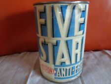 Ou Point Five Star Anti Freeze Steel Metal Can - Original -Vintage - Gas