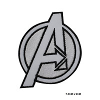 Avenger White Superhero Embroidered Iron On Sew On Patch Badge For Clothes