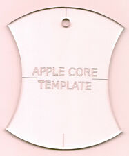 """4 1/2"""" Apple Core Quilt Template New Crystal Clear Acrylic"""