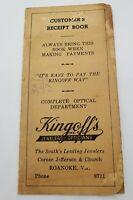 Kingoff's Inc 1942 Vintage Customer Receipt Book Jefferson Church Roanoke VA Ad
