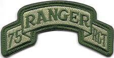 75th Rgt Vert Olive Armée Américaine Ranger Languette hook & loop tape Fermeture