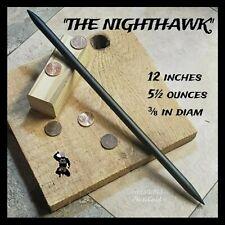 """""""THE NIGHTHAWK""""  BLACK STEEL NINJA DOUBLE SPEAR TIP TORPEDO THROWING SPIKE"""