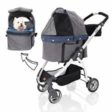 Ibiyaya 3-in-1 Detachable Pet Carrier Stroller for Dogs & Cats - Stroller in One