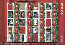 Gs-067 Wall Post Boxes Generic Smilers Stamp Sheet
