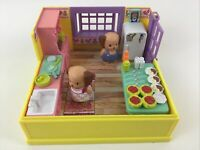 Playmates Toys Furry Families Dog Kitchen Playset Vintage 1993 Puppy 3pc Lot 90s
