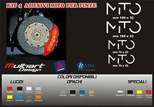 KIT 4 ADESIVI  sticker PER PINZE FRENO  ALFA MITO