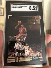 Michael Jordan 1992-93 Topps Stadium Club #1 SGC NM-Mint + Bulls Rare Authentic