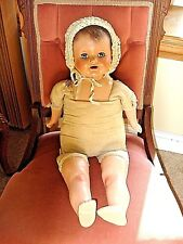 ANTIQUE COMPOSITION & CLOTH  EFFANBEE LOVUMS DOLL-26""