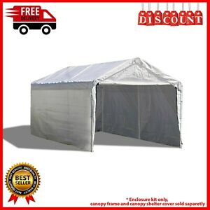 10'x20' Outdoor Canopy Shelter - Rain/Snow Protector - Garage Tent - White