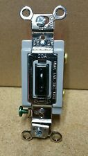 Hubbell Locking Single Pole. 15 & 20 Amp Industrial Electrical Switch. 1221LZ