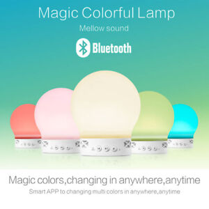 Portable Bluetooth Speaker & Smart Touch LED Colour Changing Lamps F&F PostageUK