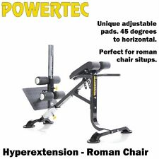 POWERTEC Hyperextension Roman Chair P-HC16 Sit Up Bench 45 Degree