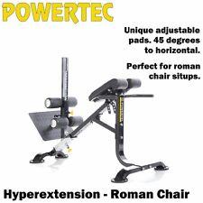 POWERTEC Hyperextension Roman Chair P-HC15 Sit Up Bench 45 Degree