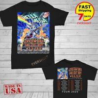 Green Day Fall Out Boy Weezer Shirt Hella Mega Tour 2019 T-Shirt Size Men Black