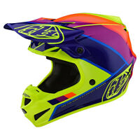 Troy Lee Designs TLD SE4 Polyacrylite Beta Helmet Yello Purple Riding ATV Moto