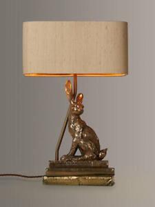 DAVID HUNT HARE TABLE LAMP, HANDMADE, BRONZE - RRP £215 - NEW, JOHN LEWIS