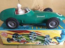 VINTAGE giocattolo plastica VANWALL auto da corsa con scatola excelente non Telsalda Fortunato OLMO