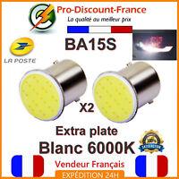 2 x Ampoule LED BA15S 1156 P21W Blanc Xénon Voiture Feux Recul COB Ampoules