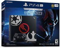 Sony PlayStation 4 Pro STAR WARS: Battlefront II 2 Limited Edition Bundle, 1TB