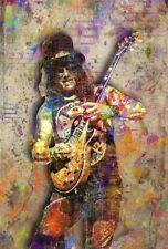 Slash Tribute Poster, Slash of Guns N' Roses  Pop Artwork 16x20in Free Shipping