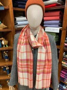 100% Pure New Wool Pashmina | Lochcarron | Made in Scotland | Monikie Blush