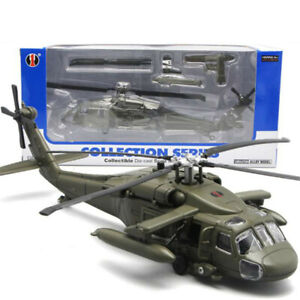 29CM Black Hawk Military Army Fighter Aircraft Toy Helicopter Collection Model