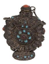 Tibet 19. JH. TABATIERE-A Sino Tibetan Filigree 'Silver' Snuff bottle-Chinois