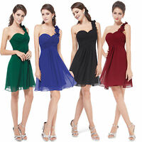 Cute Short One-shoulder Bridesmaid Party Dress Cocktail Prom Homecoming HE03535