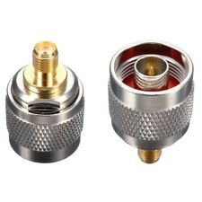 N Type Male Plug to SMA Female M/F Jack RF Coaxial Adapter Connector Converter