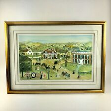 """Will Moses Signed Framed Limited Edition Print """"Quilt Sale"""" #7/500"""