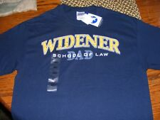 MEN'S T SHIRT WIDENER SCHOOL OF LAW DAD NEW AGENDA BY PERRIN BLUE SIZE MED NWT