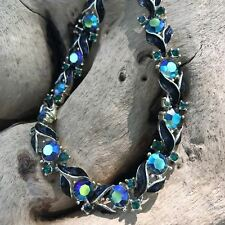 "Lisner Aurora Borealis Breathtaking Evening 16"" Choker Necklace"