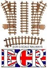 NEW G SCALE 45mm GAUGE HARD PLASTIC RAILWAY TRACK CURVES STRAIGHTS POINTS LAYOUT