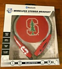 Stanford University Cardinal Bluetooth Neckband Hands Free Earbuds by Mizco