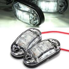 1pc 2 LED White Side Marker Clearance Light Lamp Car Truck Trailer Caravan 12V