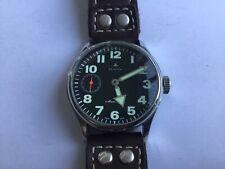 Zenith pilot mariage watch - recreation mechanical mouvement gousset transformé