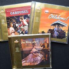3xCD joblot! Rodgers Hammerstein complete soundtracks KING & I CAROUSEL OKLAHOMA