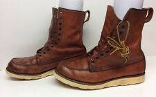 #F VTG MENS IRISH SETTER BY RED WING WORK LEATHER BRICK ORANGE BOOTS SIZE 11