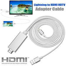 2 M Apple Lightning a HDTV con HDMI AV Cable Adaptador para iPhone 6 6S Plus iPad Air