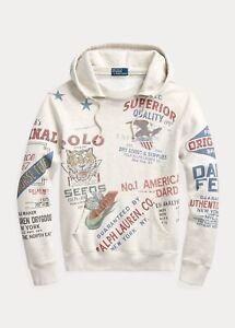 Polo Ralph Lauren Saranac Lake Fleece Graphic Hoodie | Limited Edition | Medium