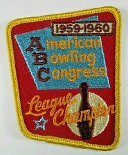 1959-1960 American Bowling Congress - League Champion Patch
