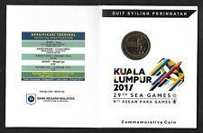 2017 MALAYSIA COIN CARD - 29TH SEA GAMES & 9TH ASEAN PARA GAMES