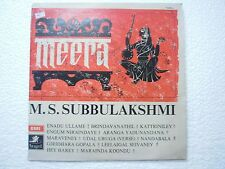 M S SUBBULAKSHMI TAMIL FILM MEERA  RARE LP CLASSICAL INDIA vg+