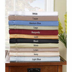 1000 TC Egyptian Cotton Sheet Set/Fitted/Flat/Pillow All Solid Colors & US Sizes