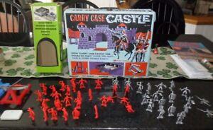 Vintage 1969 Marx Knights Carry Case castle playset - Nice Shape